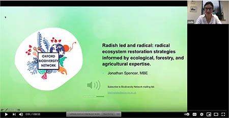 Screenshot from John's seminar