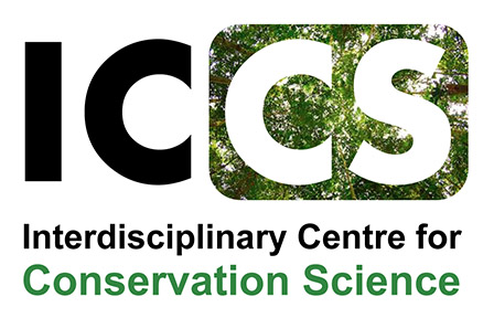 The ICCS logo with forest background