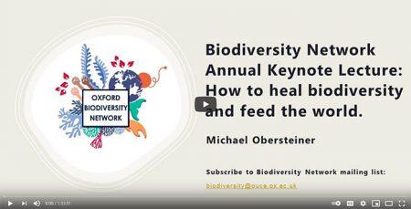 Screenshot of the keynote seminar
