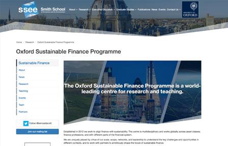 Screenshot of the groups homepage