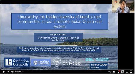 Screenshot from the coral reef seminar